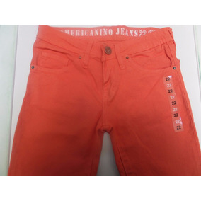 Jeans Americanino Talle 8 De Niño Skinny Naranja Nuevo