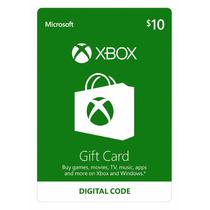 Gift Cartão Xbox Live Americana $10 Dólares Loja Oficial