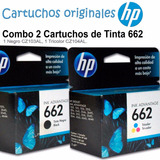 Combo Cartuchos Tinta Hp 662 1 Negro Cz103al 1 Color Cz104al