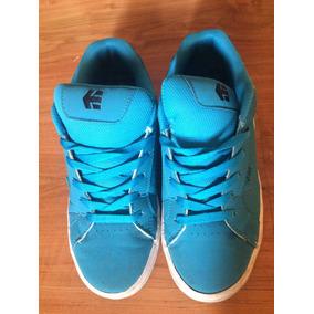 Zapato Mujer Skateboard Marca Etnies Talla 37 Color Azul