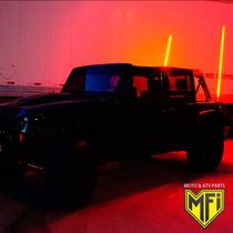 Antena Led Jeep Cherokee Camionetas 90 Cm Roja Mfi