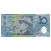 Billete Australia 10 Dolares (1998) Caballos (polimero)