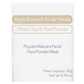 Máscara Facial Elemento Mineral Argila Branca Com Pó De Péro