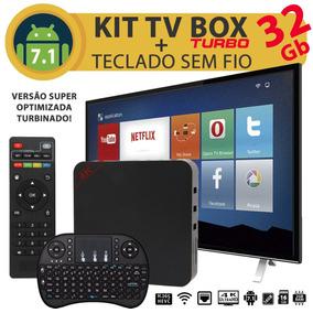 Kit Smart Tv Box Turbo 2gb Ram 32gb Android 7.1 + Teclado
