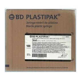 Jeringa 3ml Plastipak Caja 100 Piezas
