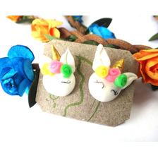 Zarcillos Accesorios Unicornio Para Niñas Regalo Cotillon