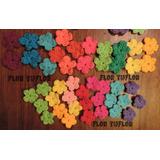 Florcitas Tejidas A Crochet Medida A Elección 1,5 Cm A 6 Cm