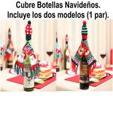 Cubre Botellas Navideños, 1 Par, Funda O Bolsa, Envío Gratis