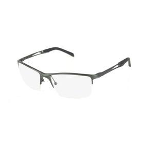 Armação Óculos Grau Masculino Alumínio Barato Cinza Escuro