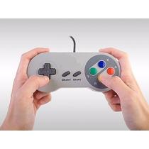 Controle Usb Pc + Emulador Snes + De 2600 Jogos + 4 Unidades