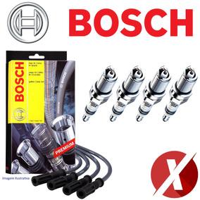 Kit Bosch Jogo De Velas + Cabos Ignição Vectra 2.4 Flex +gnv