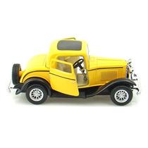 Carrinho Calhambeque Amarelo Miniatura 1/34 - Ferro Fricção