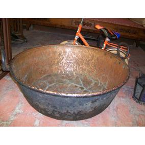 Antigua Paila Grande En Cobre, Buen Estado, 70 Ctms.