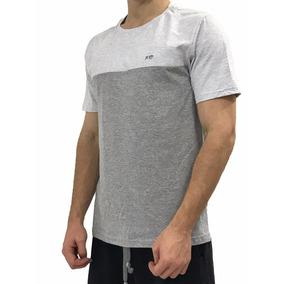 Camiseta Academia Musculação Casual Bicolor Algodão Festa