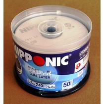 Dvd+r Dl 8.5gb Nipponic C/ Logo Pino 50 Unds Lacrado