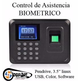 Control De Asistencia Biometrico Usb Instalacion Y Soporte