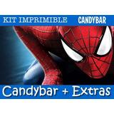 Kit Imprimible Spiderman El Hombre Araña Con Candy Bar