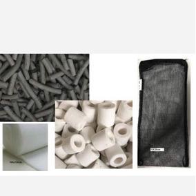 2 Carvão Ativado 1kg+2cerâmica 1kg+2lã 100x150cm+4bolsa15x30
