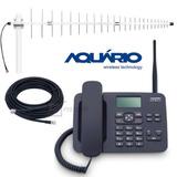Kit Telefone Celular Rural Mesa 2 Chip + Antena + Cabo