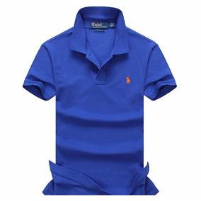 Poleras Polo Classic Custom Fit Cuello Pique Azul Y Negro