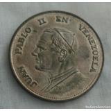 Moneda De Plata 1000 Juan Pablo Ii En Venezuela 25.4grs