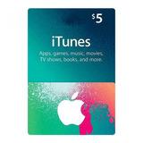 Itunes Giftcard $5 Dólares Apple Usa Ipod/ipad/iphone