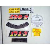 Kit Adesivos Gm Chevrolet Opala Caravan 1985 1986 1987 Motor