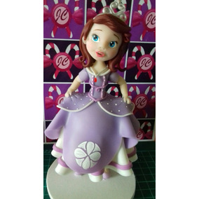 Adorno Princesa Sofia 16cm Porcelana Fría Para Torta