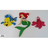 La Sirenita Y Sus Amigos- Figuras Goma Eva