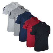 Kit Camisa Polo Masculina Clássica Bordado