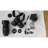 Camera Nikon D3000 Kit Lentes Tamron/nikon Com 2096 Clicks