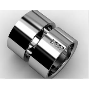 Aliança De Prata 10mm Larga Compromisso Namoro
