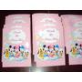 Tarjetas Invitaciones Personalizada Minnie Mickey Daisy X 25