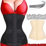 Cinta Modeladora 7 Osso De Aço Em Espiral Mulheres Cintura