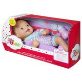 Boneca Bebê Little Mommy Recém Nascido Roupinha Roxa Mattel