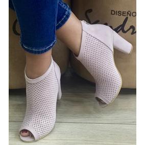 Zapato Botin Para Mujer Despuntado Diseños Sandra Cano Shoes