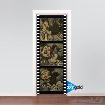 Adesivo Decorativo Porta Minnie E Mickey Mouse Md387 Gold