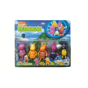 Backyardigans Muñecos Articulados X5 Personajes Con Luz+ Acs