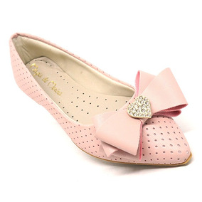 b0c9e67f53 Sapatilha Infantil Bico Fino - Sapatos Rosa claro no Mercado Livre ...