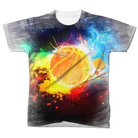 Camisa Camiseta Blusa Esporte Basquetebol Bola Basquete 03 87dac8834916f