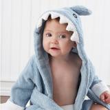 Toalla Para Bebé Salida De Baño - Diseño Tiburón