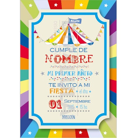 tarjeta invitacin cumpleaos infantil circo original - Invitaciones De Cumpleaos Originales