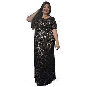 Vestido Renda Plus Size Longo Festa Madrinha Casamento Noiva