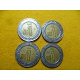 Set De 4 Monedas De Un N $ {nuevo Peso }$ 1.00