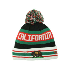 California Republic Cal New Era Jake Beanie Gorro Lana Pom