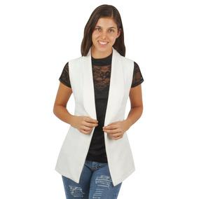 Chaleco Tipo Kimono Blanco De Dama Elegante Devendi Denim Co