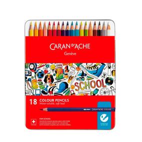 Lapices De Colores Caran Dache Lata 18un - 1290318