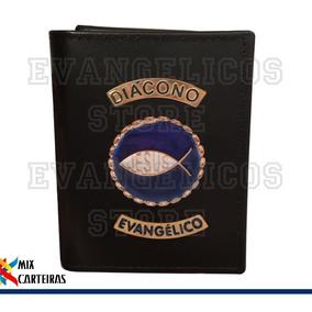 Carteira Diacono Evangélico Super Luxo (logo Jesus) 01
