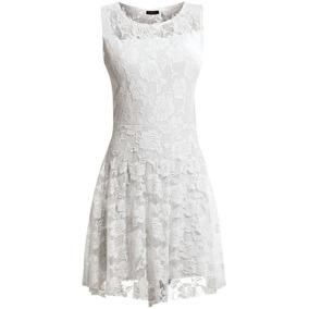 Vestido Fim De Ano Renda Festa/casual Branco + Super Brinde