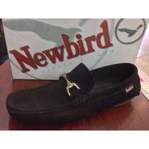 Zapatos Tipo Mocasin 100% Cuero Originales Marca Newbird